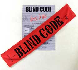 画像1: BLIND CODE:バンドタオル レッド