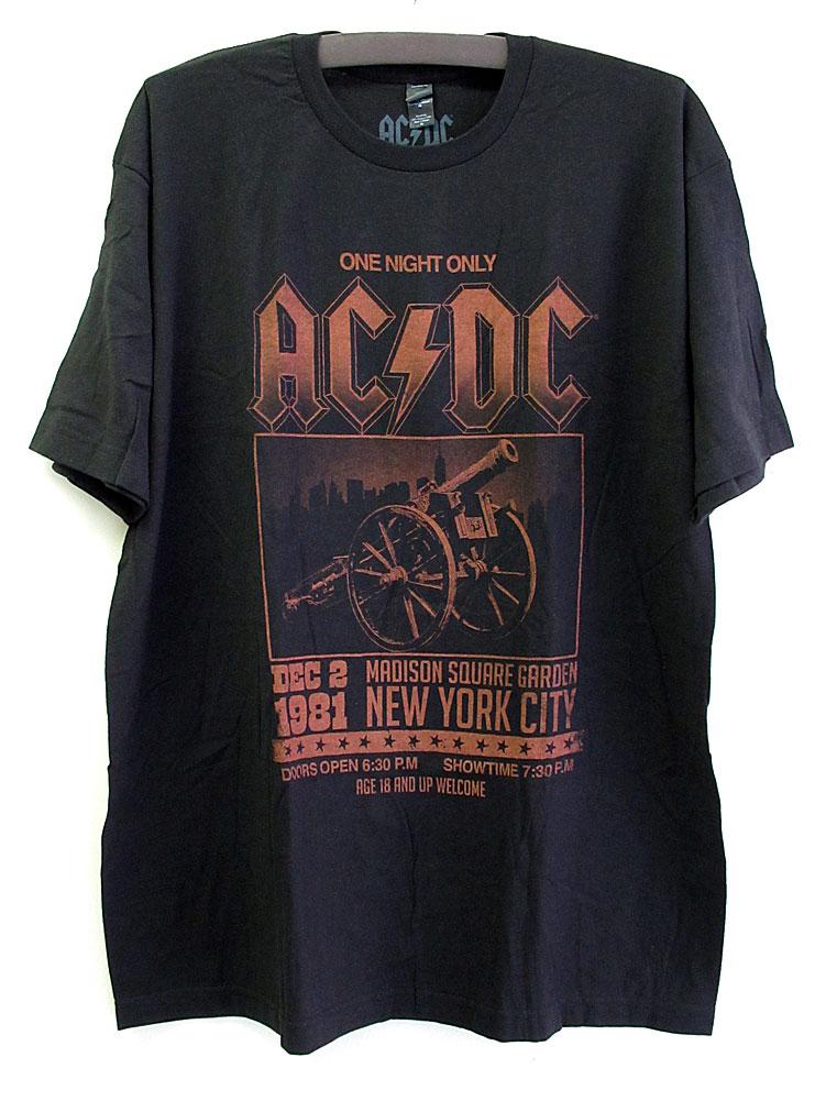 画像1: オフィシャル バンドTシャツ:AC/DC MADISON SQUARE GARDEN ブラック