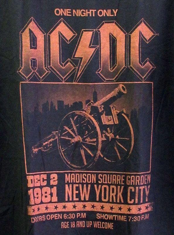 画像2: オフィシャル バンドTシャツ:AC/DC MADISON SQUARE GARDEN ブラック