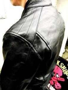 画像5: 【送料無料】メンズUKシングルタイプ牛本革ライダース 黒(ブラック) (5)