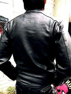 画像3: 【送料無料】メンズUKシングルタイプ牛本革ライダース 黒(ブラック) (3)