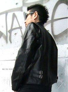 画像4: 【送料無料】メンズUSシングルタイプ牛本革ライダース 黒(ブラック) (4)