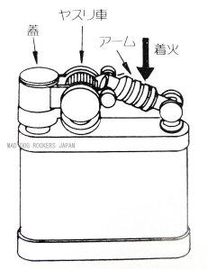 画像2: 日本製 オイル ライター デュークI ニッケルミガキ (2)