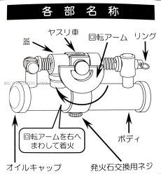 画像3: 日本製 オイル ライター デュークIVニッケルサテン (3)