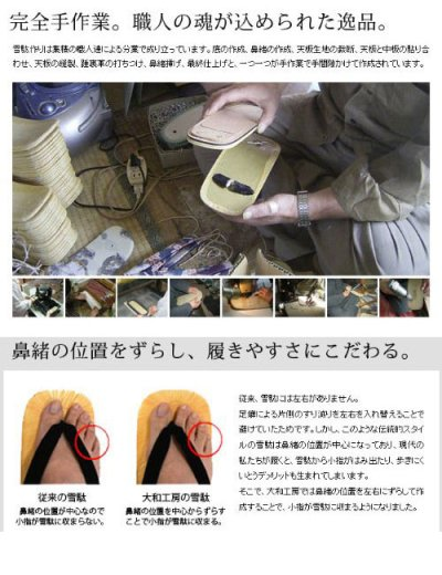 画像2: 【再入荷】大和工房:日本製雪駄 ラタンメッシュ 市松柄花緒