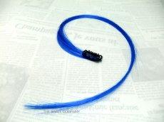 画像1: ワンポイント・ヘアエクステンション:BLUE(ブルー) (1)