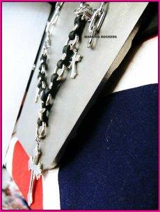 画像4: パンク・ロック系チョーカー:ロッキンチェーン・トリプルクロス (4)