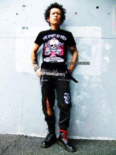 画像2: 【SALE☆50%OFF】パンク・ロック系Tシャツ:スペードスカル (2)
