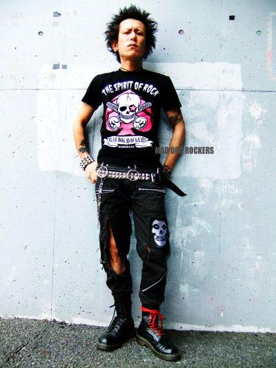 画像1: 【SALE☆50%OFF】パンク・ロック系Tシャツ:スペードスカル