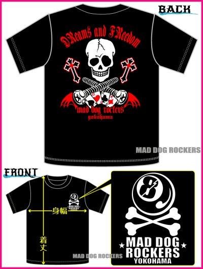 画像3: 【SALE☆50%OFF】パンク・ロック系Tシャツ:DReams and FReedom