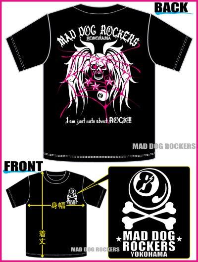 画像3: パンク・ロック系Tシャツ:スカル ウイング&スパイダー ウェブ