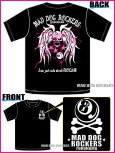 画像4: パンク・ロック系Tシャツ:スカル ウイング&スパイダー ウェブ (4)