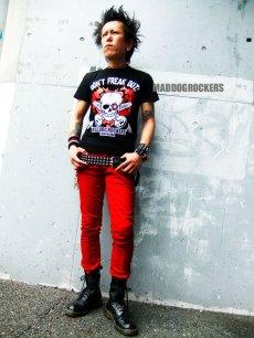 画像2: 【SALE☆50%OFF】パンク・ロック系Tシャツ:パンク ハートMDRスカル (2)