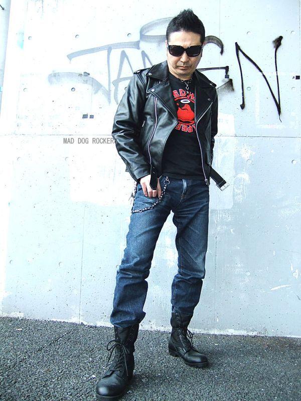 画像1: 【送料無料】メンズUSダブルタイプ牛本革ライダース 黒(ブラック) (1)