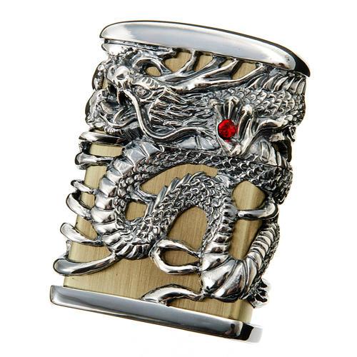 画像1: Zippoジッポーライター:フルメタルジャケット 天龍 ドラゴン シルバー (1)