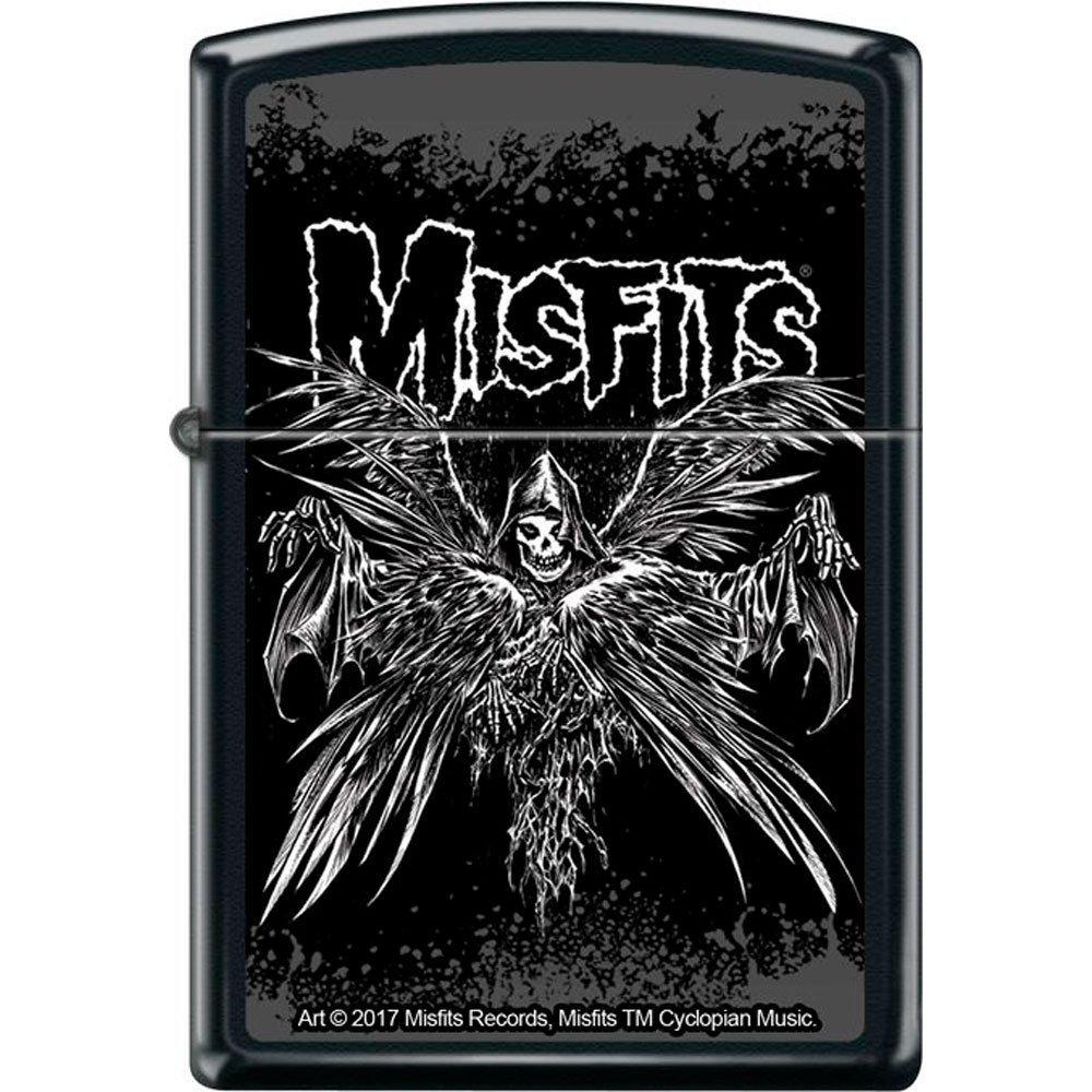 画像1: Zippoジッポーライター:MISFITS ミスフィッツ Descending Angel ブラック (1)