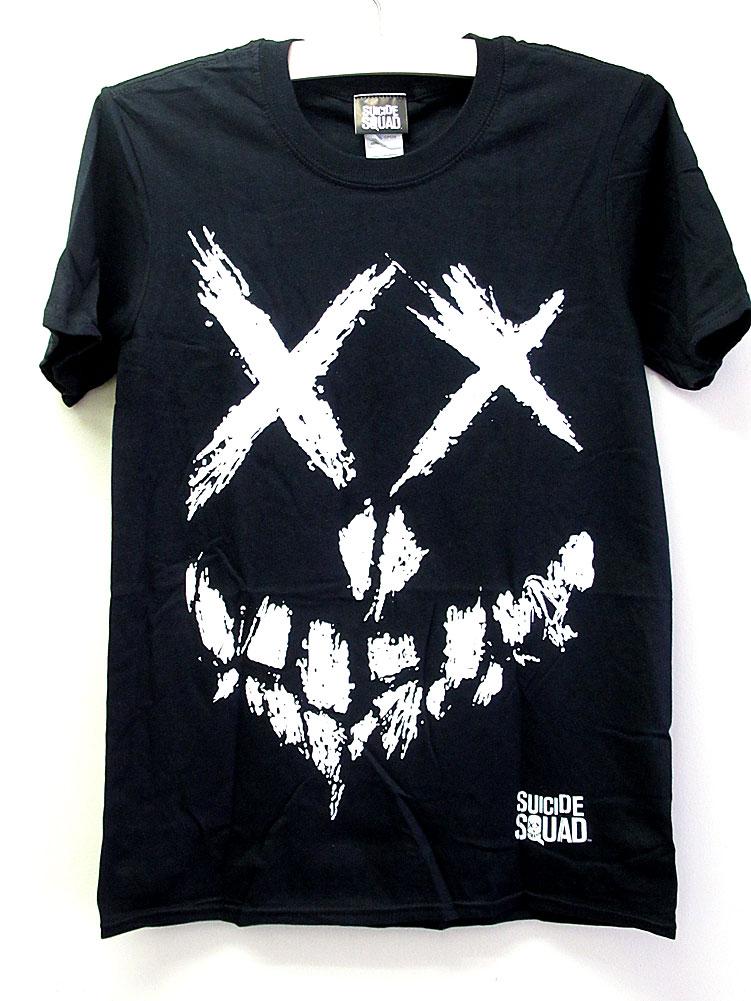 画像1: オフィシャル アメコミTシャツ:SUICIDE SQUAD SKULL ブラック (1)