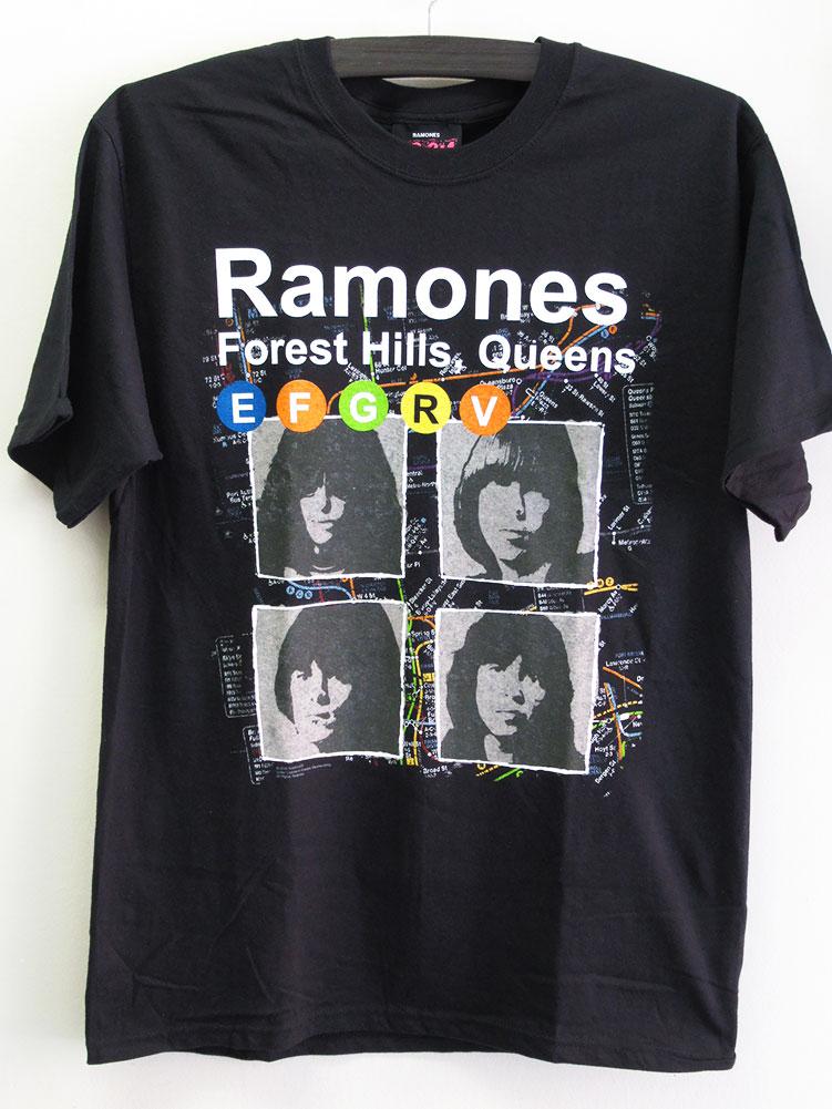 画像1: オフィシャル バンドTシャツ:RAMONES MAP ブラック (1)
