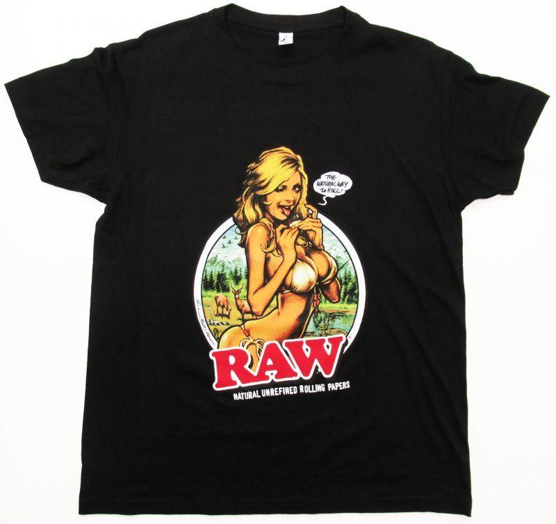 画像1: RAWガール Tシャツ ブラック (1)