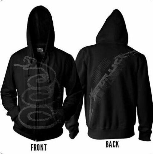 画像1: オフィシャル バンドパーカー:METALLICA Black Album Burnished ブラック (1)