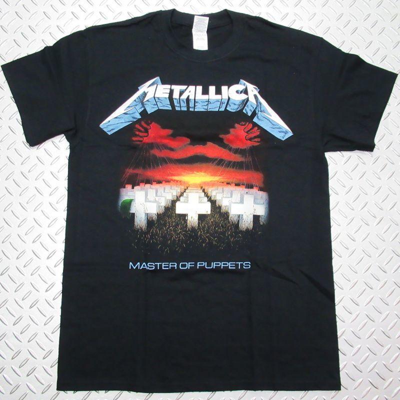 画像1: オフィシャル バンドTシャツ:METALLICA Master of Puppets Tracks ブラック (1)