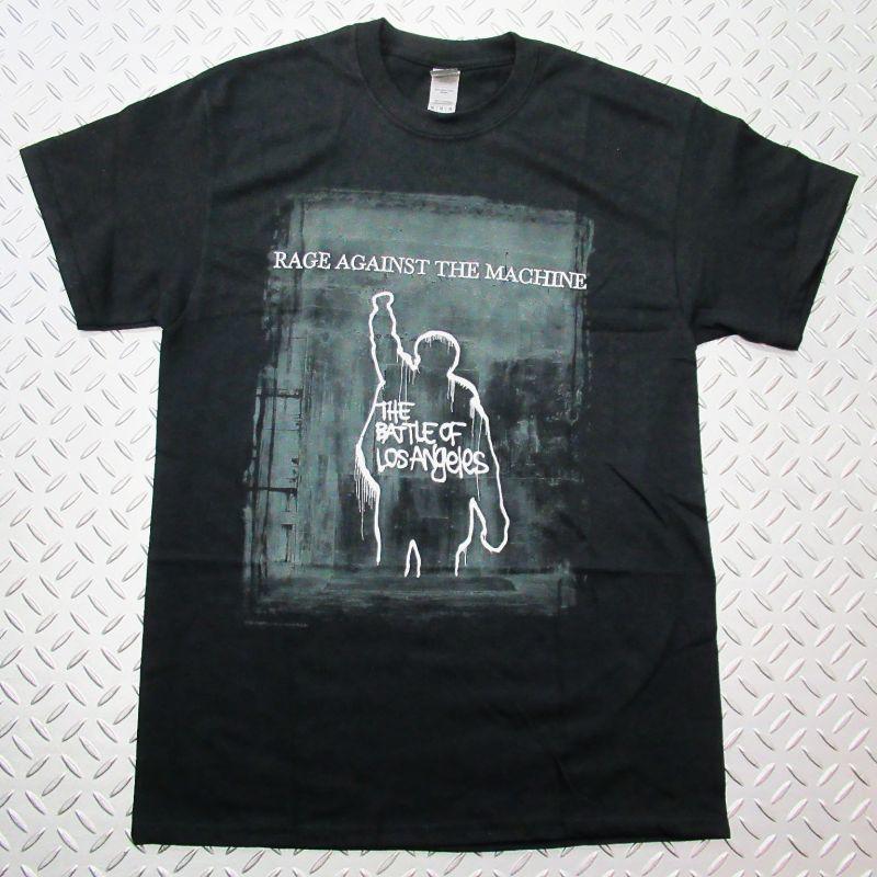 画像1: オフィシャル バンドTシャツ:RAGE AGAINST THE MACHINE Bulls on Parade Mic ブラック (1)