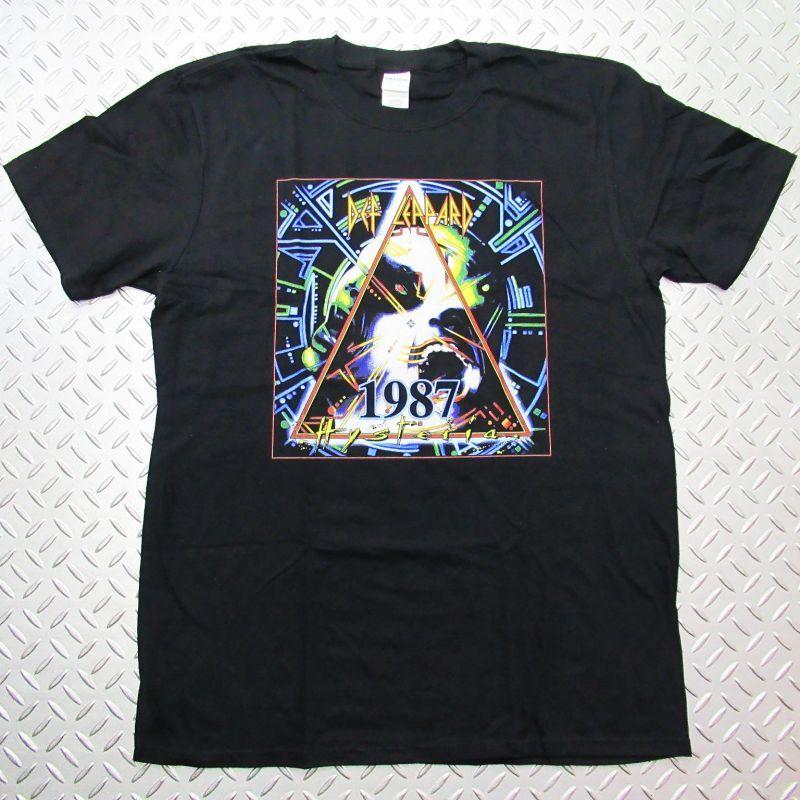 画像1: オフィシャル バンドTシャツ:DEF LEPPARD World Tour 87 ブラック (1)
