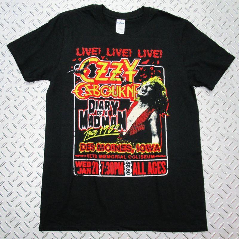画像1: オフィシャル バンドTシャツ:OZZY OSBOURNE Diary of a Madman Tour ブラック (1)