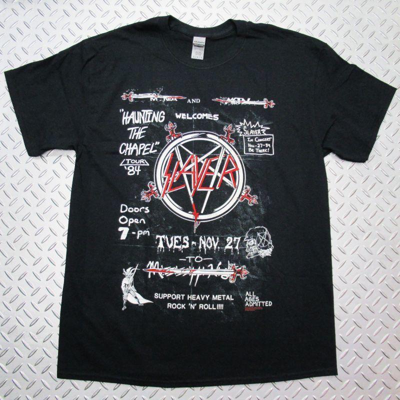 画像1: 【再入荷】オフィシャル バンドTシャツ:SLAYER Haunting 84 Flier ブラック (1)
