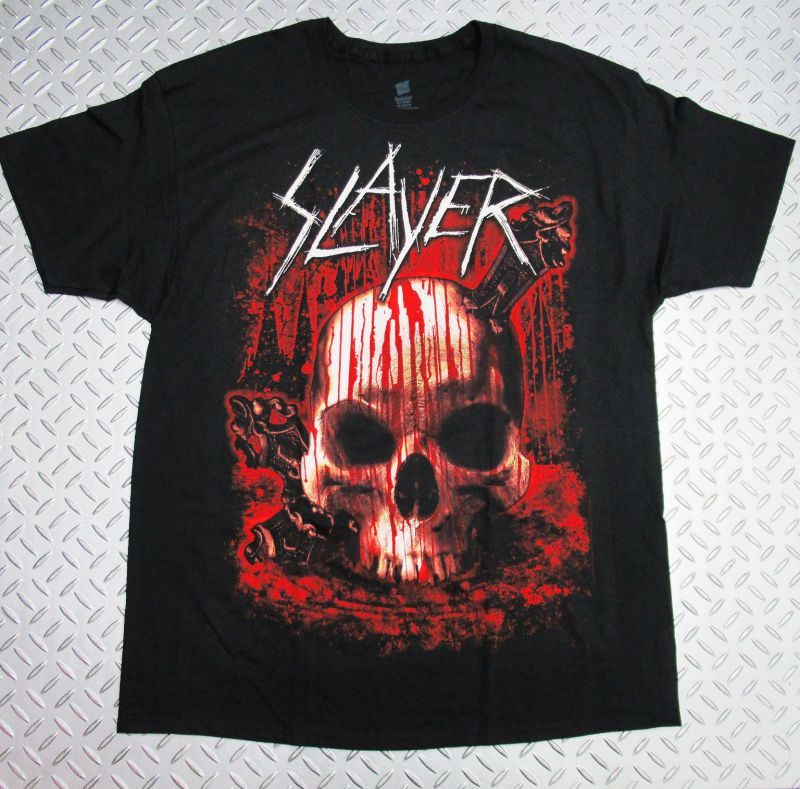 画像1: オフィシャル バンドTシャツ:SLAYER WORLD TOUR 2012 TOUR ブラック (1)