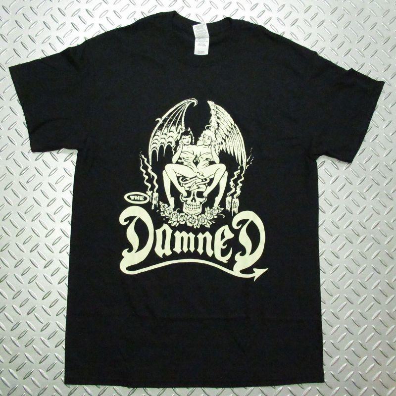 画像1: オフィシャル バンドTシャツ:DAMNED Devil Twins ブラック (1)