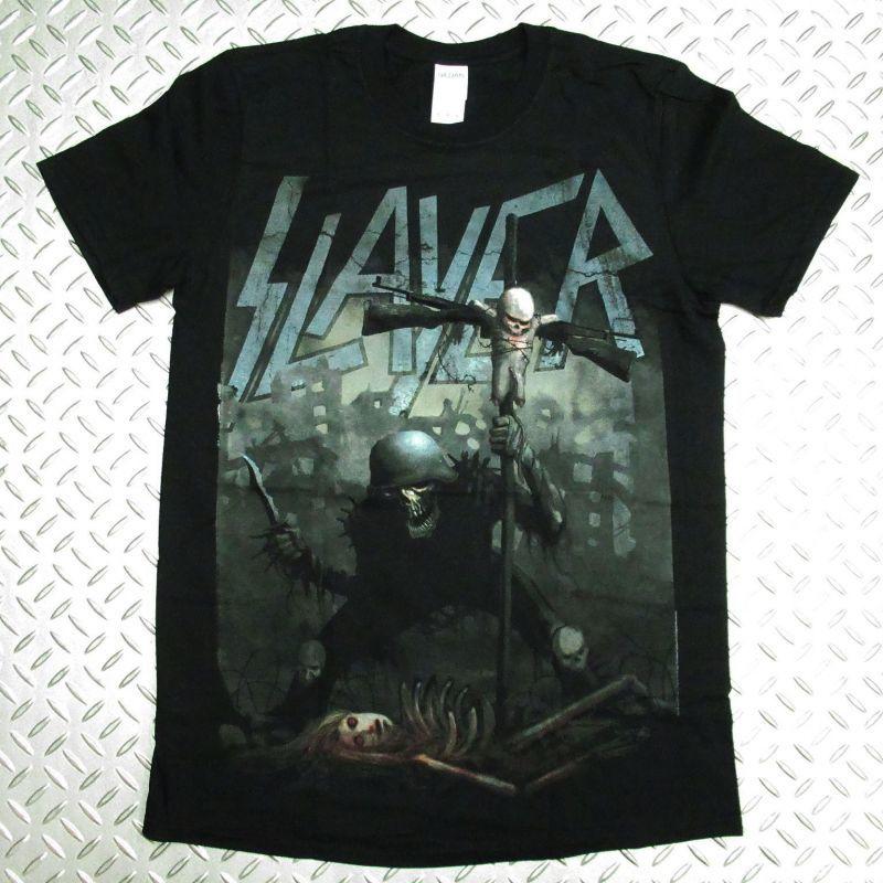 画像1: オフィシャル バンドTシャツ:SLAYER SOLDIER CROSS ブラック (1)
