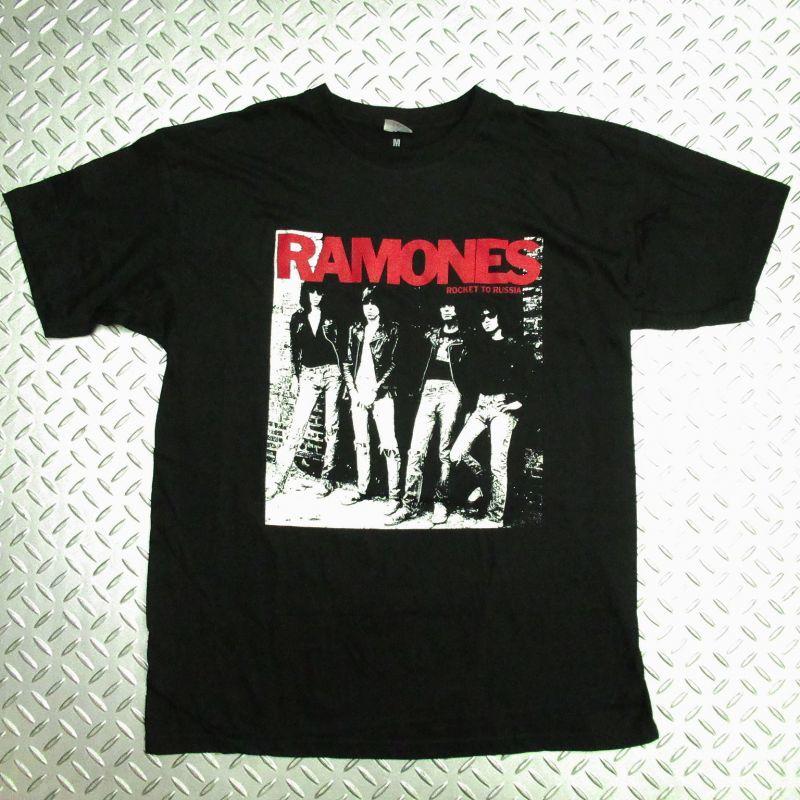 画像1: オフィシャル バンドTシャツ:RAMONES ROCKET TO RUSSIA ブラック (1)