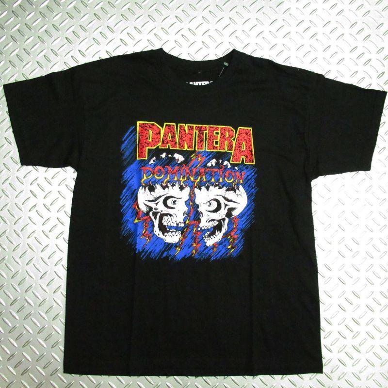 画像1: オフィシャル バンドTシャツ:PANTERA DOMINATION ブラック (1)