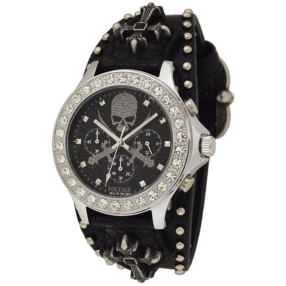 画像1: 【送料無料】ウォッチ 腕時計:ヴォルテージ VOLTAGE センチネル8 SENTINELVIII ブラック (1)
