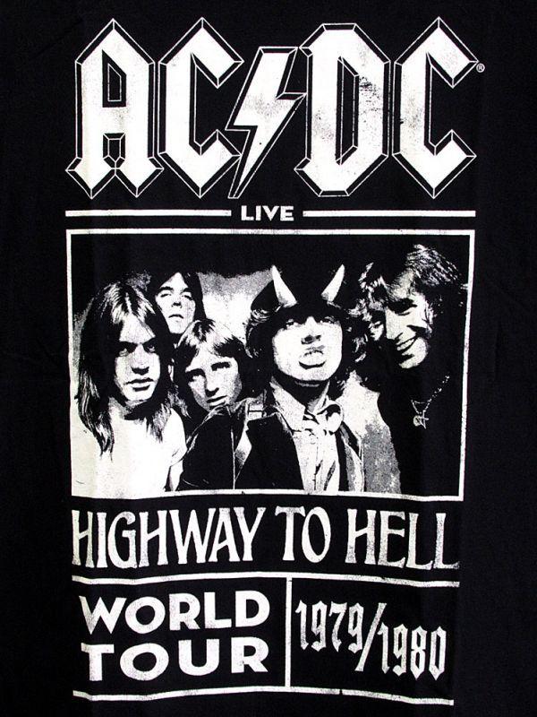 画像2: オフィシャル バンドTシャツ:AC/DC HIGHWAY TO HELL WORLD TOUR 1979/1980 ブラック