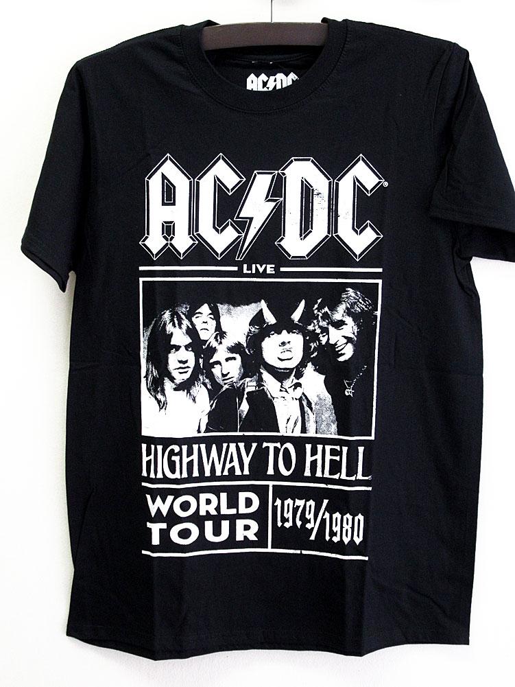 画像1: オフィシャル バンドTシャツ:AC/DC HIGHWAY TO HELL WORLD TOUR 1979/1980 ブラック