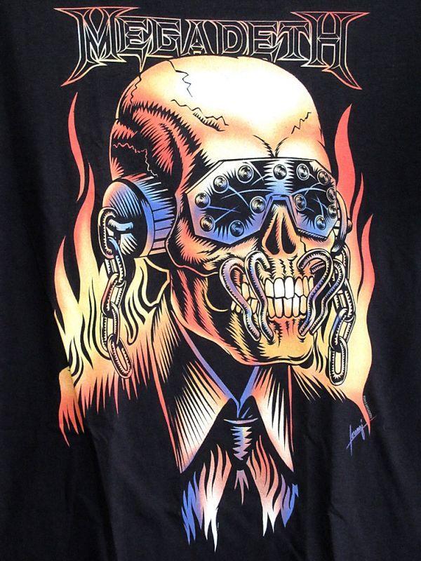 画像2: オフィシャル バンドTシャツ:MEGADETH VIC RATTLEHEAD ブラック